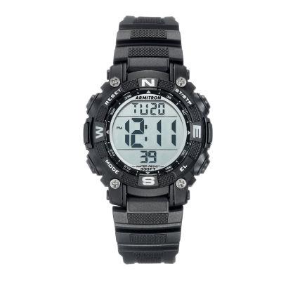 Armitron Prosport Mens Black Strap Watch-45/7099blk