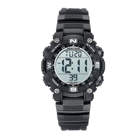 Armitron Pro Sport Mens Chronograph Black Strap Watch-45/7099blk