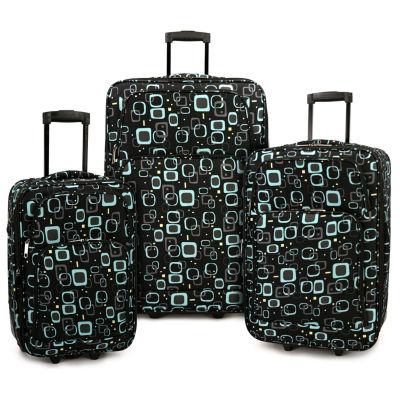 Retro Square 3-pc. Luggage Set