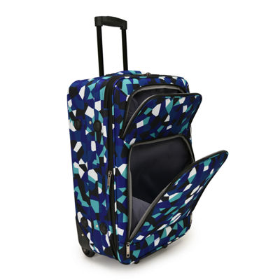 Blue Geo 20 Inch Luggage