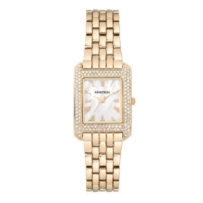 Armitron Womens Gold Tone Bracelet Watch-75/5575mpgp