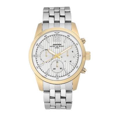 Armitron Mens Silver Tone Bracelet Watch-20/4991gpsv