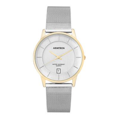 Armitron Mens Silver Tone Bracelet Watch-20/5123gpsv