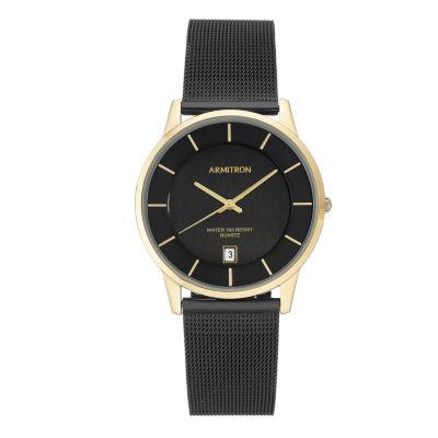 Armitron Mens Black Bracelet Watch-20/5123gpti