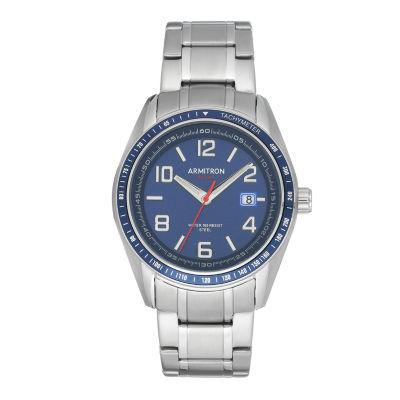 Armitron Mens Silver Tone Bracelet Watch-20/5252nvsv