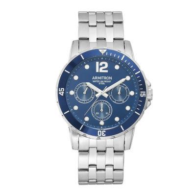 Armitron Mens Silver Tone Bracelet Watch-20/5277nvsv