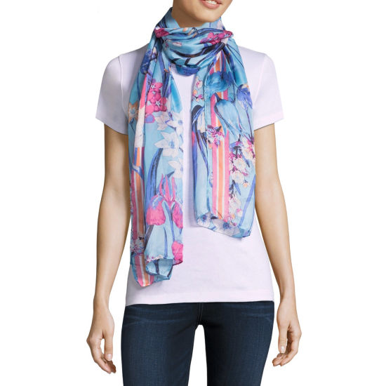 Mixit Botanical Oblong Floral Scarf