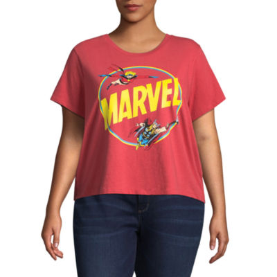 Marvel Cropped Tee - Juniors Plus