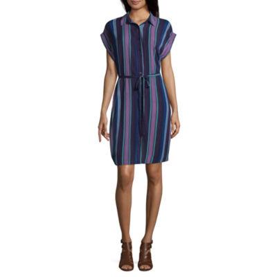 a.n.a. Tie Shirt Dress