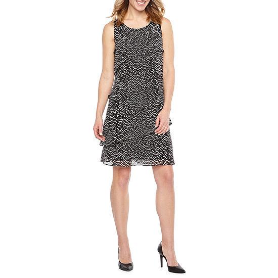 Jessica Howard Sleeveless Dots Shift Dress