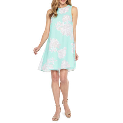 Jessica Howard Sleeveless Floral A-Line Dress
