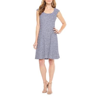 Ronni Nicole Sleeveless Pattern Fit & Flare Dress
