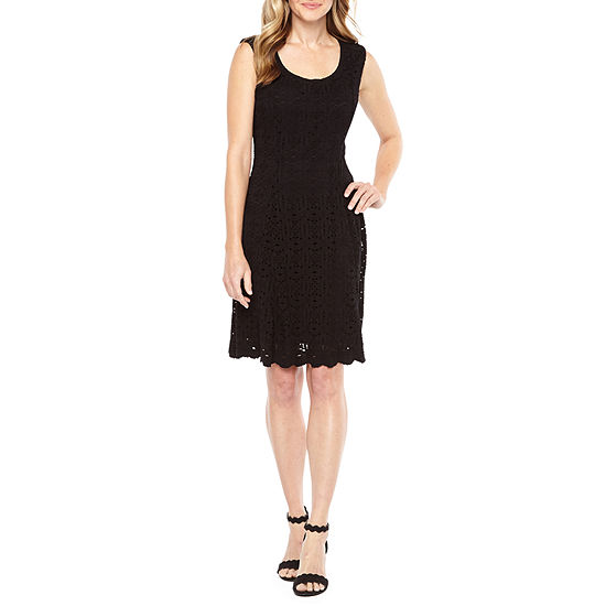Ronni Nicole Sleeveless Lace Medallion Fit & Flare Dress