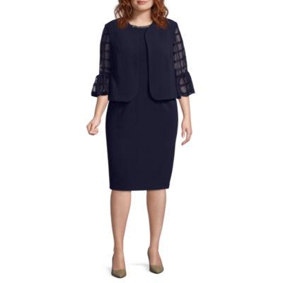 Maya Brooke Bell Sleeve Jacket Dress - Plus