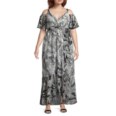Melrose Short Sleeve Floral Maxi Dress - Plus