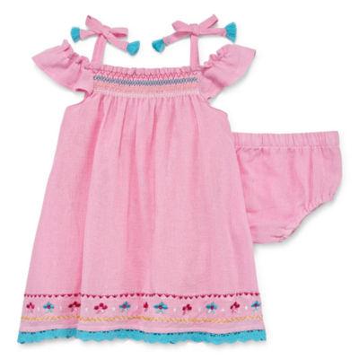 Nanette Baby Sleeveless Guaze Pink Dress - Girls