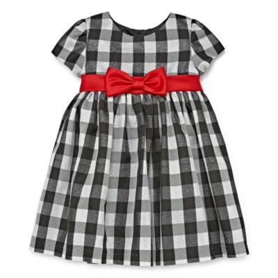 Marmellata Short Sleeve A-Line Dress - Baby Girls