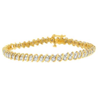 18K Gold Solid Link Round Link Bracelet