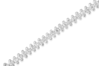 Womens 2 CT. T.W. White Diamond 18K Gold Tennis Bracelet