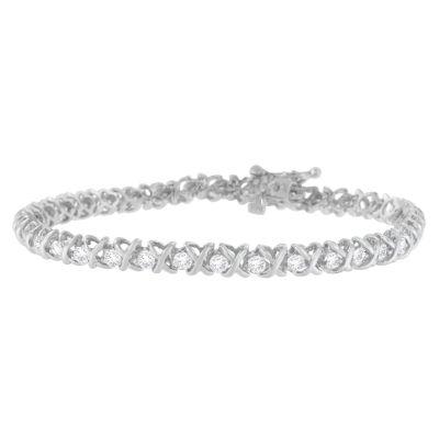 Womens 2 CT. T.W. White Diamond 18K Gold Tennis Bracelet
