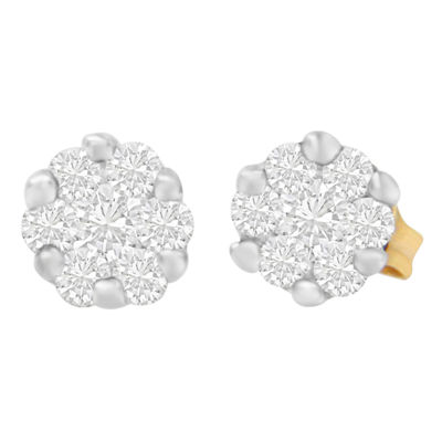 1/2 CT. T.W. White Diamond 14K Gold 5mm Round Stud Earrings