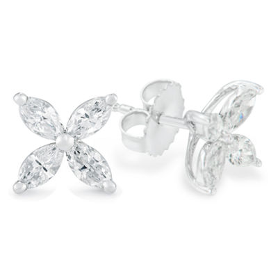 1 CT. T.W. White Diamond 14K White Gold 10mm Stud Earrings
