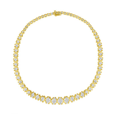 Womens 4 CT. T.W. White Diamond 10K Gold Pendant Necklace