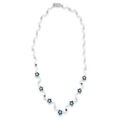Womens 4 CT. T.W. White Diamond 14K White Gold Pendant Necklace