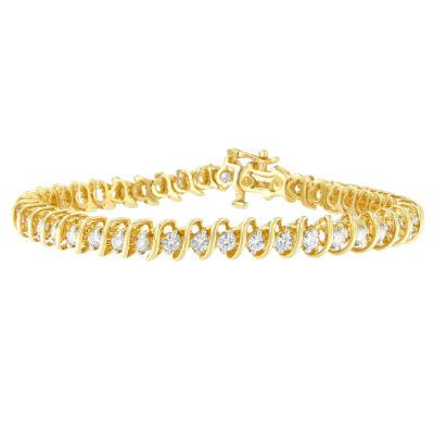 14K Gold Solid Link Link Bracelet