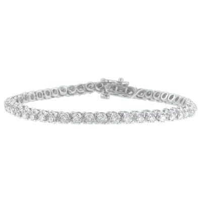 3 CT. T.W. White Diamond 14K White Gold Tennis Bracelet