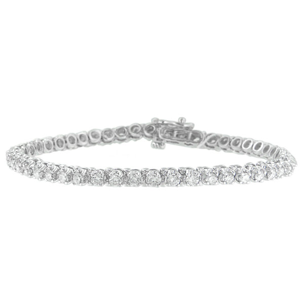 Fine Jewelry Womens 3 CT. T.W. White Diamond 14K Gold Tennis Bracelet DUnvvc
