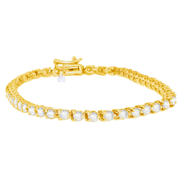 Womens 5 CT. T.W. White Diamond 14K Gold Tennis Bracelet