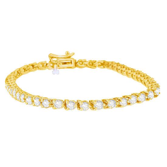 5 CT. T.W. Genuine White Diamond 14K Gold Tennis Bracelet