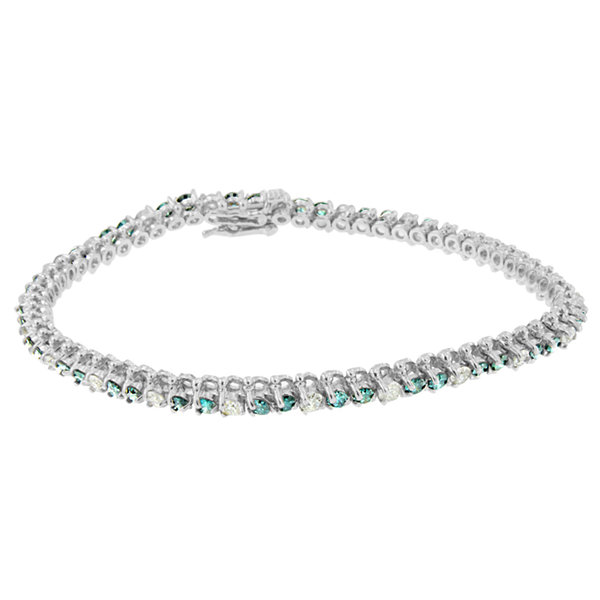 Womens 4 1/2 CT. T.W. White Diamond 14K Gold Tennis Bracelet