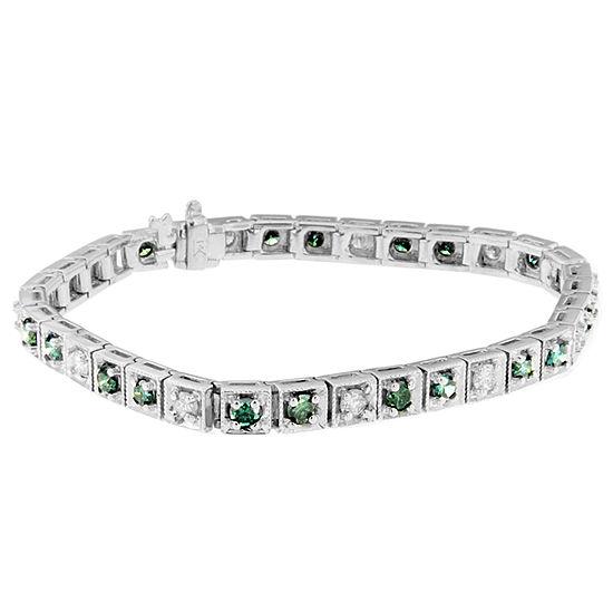 4 1 2 Ct Tw Genuine White Diamond 14k White Gold 7 Inch Tennis Bracelet