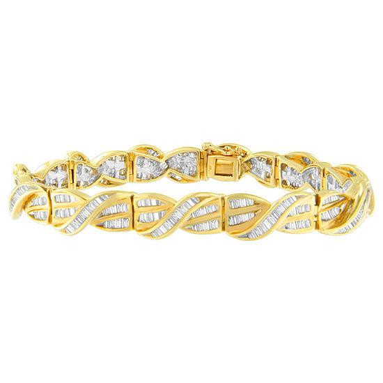 3 CT. T.W. Genuine White Diamond 14K Gold 7 Inch Tennis Bracelet