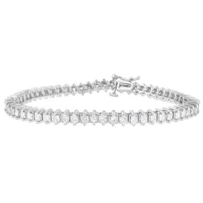 Womens 5 CT. T.W. White Diamond 14K Gold Tennis Bracelet