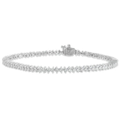 2 CT. T.W. White Diamond 14K White Gold 7 Inch Tennis Bracelet