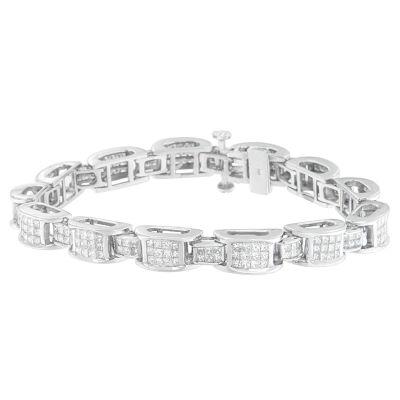 5 CT. T.W. Genuine White Diamond 14K White Gold 7 Inch Tennis Bracelet