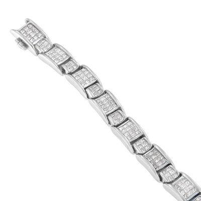 14K White Gold 7 Inch Solid Box Link Bracelet