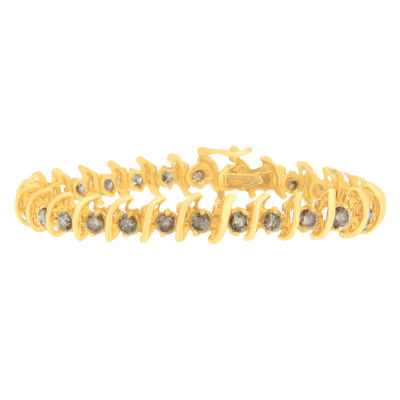 6 CT. T.W. Brown Diamond 14K Gold 7 Inch Tennis Bracelet