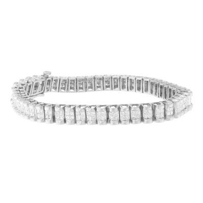 3 CT. T.W. White Diamond 14K White Gold 7 Inch Tennis Bracelet