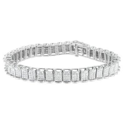 5 CT. T.W. White Diamond 14K White Gold 7 Inch Tennis Bracelet