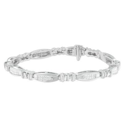 2 CT. T.W. White Diamond 14K White Gold 7 Inch Tennis Bracelet