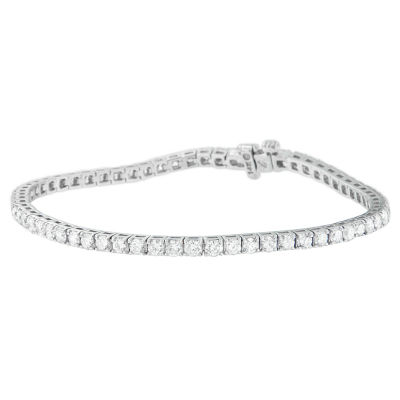 4 CT. T.W. White Diamond 14K White Gold 7 Inch Tennis Bracelet