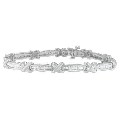 14K White Gold 7 Inch Solid Link Link Bracelet
