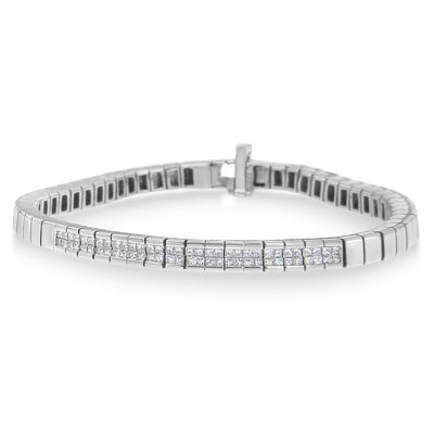 1 CT. T.W. White Diamond 14K White Gold 7 Inch Tennis Bracelet