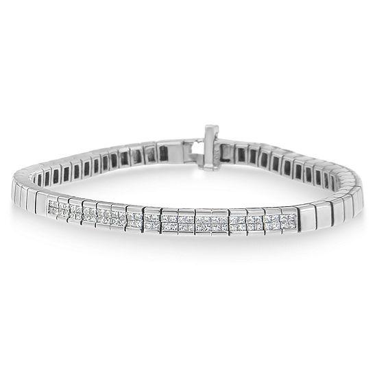 1 CT. T.W. Genuine White Diamond 14K White Gold 7 Inch Tennis Bracelet