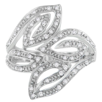 Womens 1/4 CT. T.W. White Diamond 14K Gold Cocktail Ring