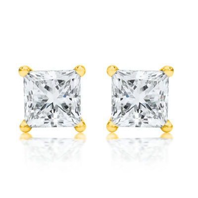 1/2 CT. T.W. White Diamond 14K Gold 3mm Stud Earrings